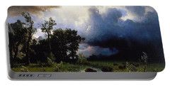 Buffalo Trail  The Impending Storm Portable Battery Charger by Albert Bierstadt