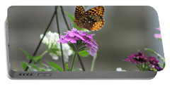 Butterflies Are Free Portable Battery Charger by Barbara S Nickerson
