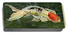 Butterfly Koi Portable Battery Charger by Phyllis Beiser