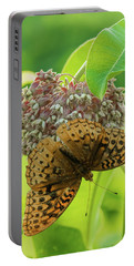 Butterfly On Wild Flower Portable Battery Charger