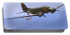 C-47 Gooney Bird At Salinas Portable Battery Charger