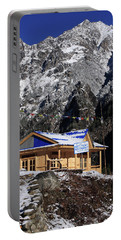 Meeting Point Mountain Restaurant Portable Battery Charger by Aidan Moran