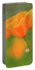 California Spring Poppy Macro Close Up Portable Battery Charger