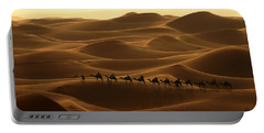 Camel Caravan In The Erg Chebbi Southern Morocco Portable Battery Charger