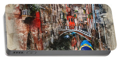 Canal In Venice Portable Battery Charger