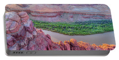 Canyon Of Colorado River - Sunrise Aerial View Portable Battery Charger