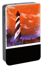 Portable Battery Charger featuring the painting Cape Hatteras Lighthouse by Ryan Fox