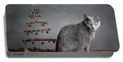 Cat Christmas Portable Battery Charger