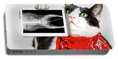 Cat With X Ray Plate Portable Battery Charger