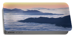 Cataloochee Valley Sunrise Portable Battery Charger by Serge Skiba