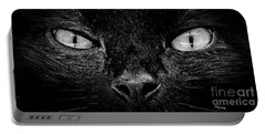 Cat's Eyes Portable Battery Charger by Terri Mills