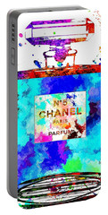 Chanel No. 5 Grunge Portable Battery Charger by Daniel Janda