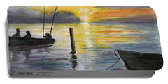 Chesapeake Sunset Portable Battery Charger by Clara Sue Beym
