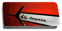 Chevy Impala Portable Battery Charger by Pamela Walrath
