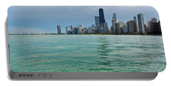 Chicago Lake Michigan Skyline Portable Battery Charger