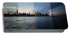 Chicago Skyline Time Slice  Portable Battery Charger