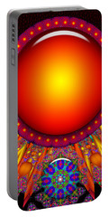 Portable Battery Charger featuring the digital art Children Of The Sun by Robert Orinski