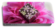 Chocolate Flower Portable Battery Charger by Sabine Edrissi