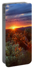 Cholla Sunset  Portable Battery Charger