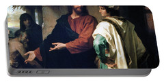 Christ And The Rich Young Ruler Portable Battery Charger