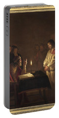 Christ Before The High Priest Portable Battery Charger