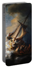 Christ In The Storm On The Lake Of Galilee Portable Battery Charger