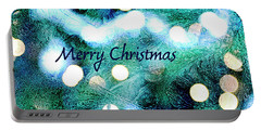 Christmas Background Portable Battery Charger by Patricia Hofmeester