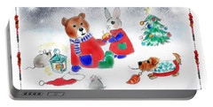 Christmas Friends Portable Battery Charger