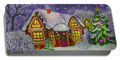 Christmas House, Painting Portable Battery Charger