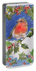 Christmas Robin Portable Battery Charger