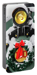 Christmas Train At Pacific Junction Portable Battery Charger