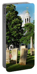 Church On The Hill Portable Battery Charger by James Kirkikis