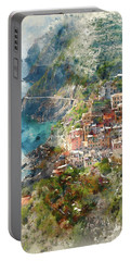 Cinque Terre In Italy Portable Battery Charger