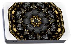 Portable Battery Charger featuring the digital art Circularium No. 2616 by Alan Bennington