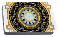 Portable Battery Charger featuring the digital art Circularium No 2653 by Alan Bennington