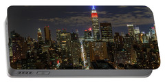 Portable Battery Charger featuring the photograph City Lights  by Anthony Fields