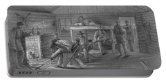 Civil War, Winter Quarters.  Portable Battery Charger