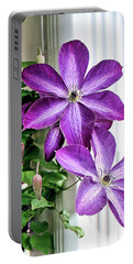 Clematis Portable Battery Charger by Kristin Elmquist