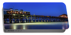 Cocoa Beach Pier At Twilight Portable Battery Charger