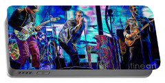 Coldplay Collection Chris Martin Portable Battery Charger by Marvin Blaine