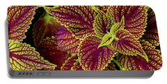 Coleus Leaves Portable Battery Charger by Tim Good