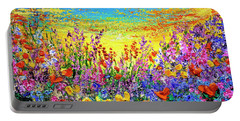 Portable Battery Charger featuring the painting Color My World by Teresa Wegrzyn