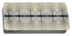 Colorado Cottonwood Tree Mirror Image  Portable Battery Charger