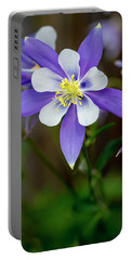 Colorado State Flower Blue Columbines Portable Battery Charger
