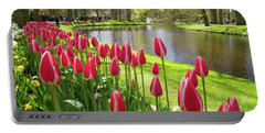 Colorful Blooming Tulips Portable Battery Charger