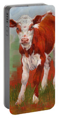 Colorful Calf Portable Battery Charger by Margaret Stockdale