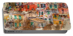 Colorful Homes In Cinque Terre Italy Portable Battery Charger