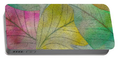 Portable Battery Charger featuring the digital art Colorful Leaves by Klara Acel
