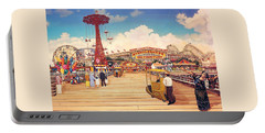 Coney Island Boardwalk Portable Battery Charger