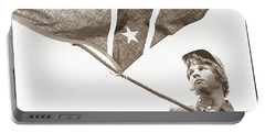 Portable Battery Charger featuring the photograph Confederate Soldier by KG Thienemann